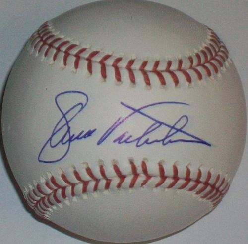 Ellis Valentine Autographed Baseball