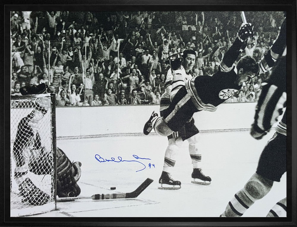 Bobby Orr Signed Amp Framed 16x20 Quot The Goal Quot Canvas Nhl