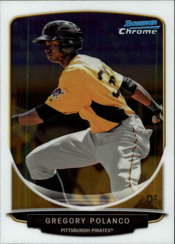 Photo of 2013 Bowman Chrome Draft Top Prospects #TP38 Gregory Polanco Pre-Rookie Card