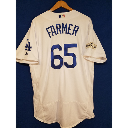 Kyle Farmer Home 2017 Team-Issued Post Season Jersey