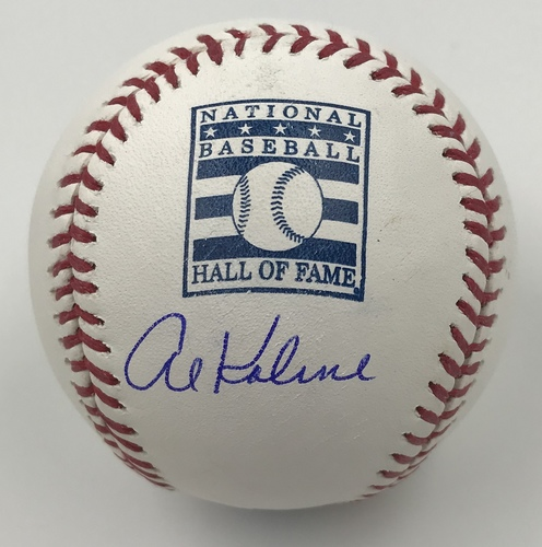 Photo of Al Kaline Autographed Hall of Fame Logo Baseball