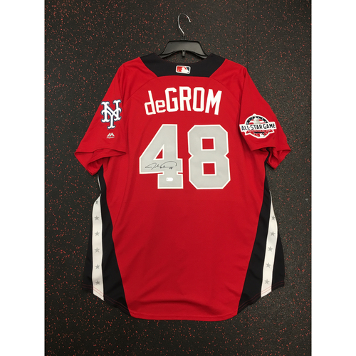 Photo of Jacob deGrom 2018 Major League Baseball Workout Day Autographed Jersey