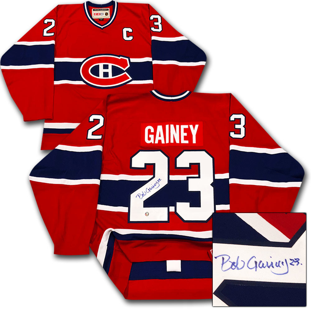 Bob Gainey Autographed Montreal Canadiens Pro Jersey
