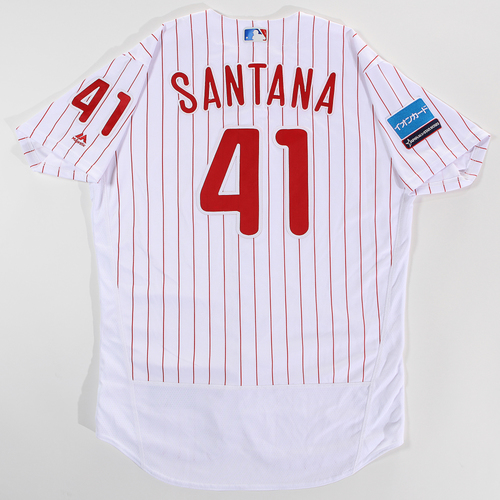 Photo of 2018 Japan Series Game-Used Jersey - Carlos Santana - Size 46