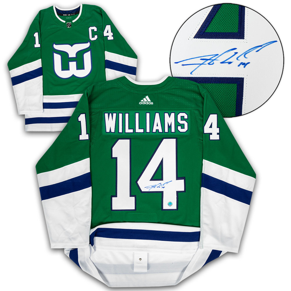 Justin Williams Carolina Signed Hartford Whalers Night Adidas Authentic Hockey Jersey