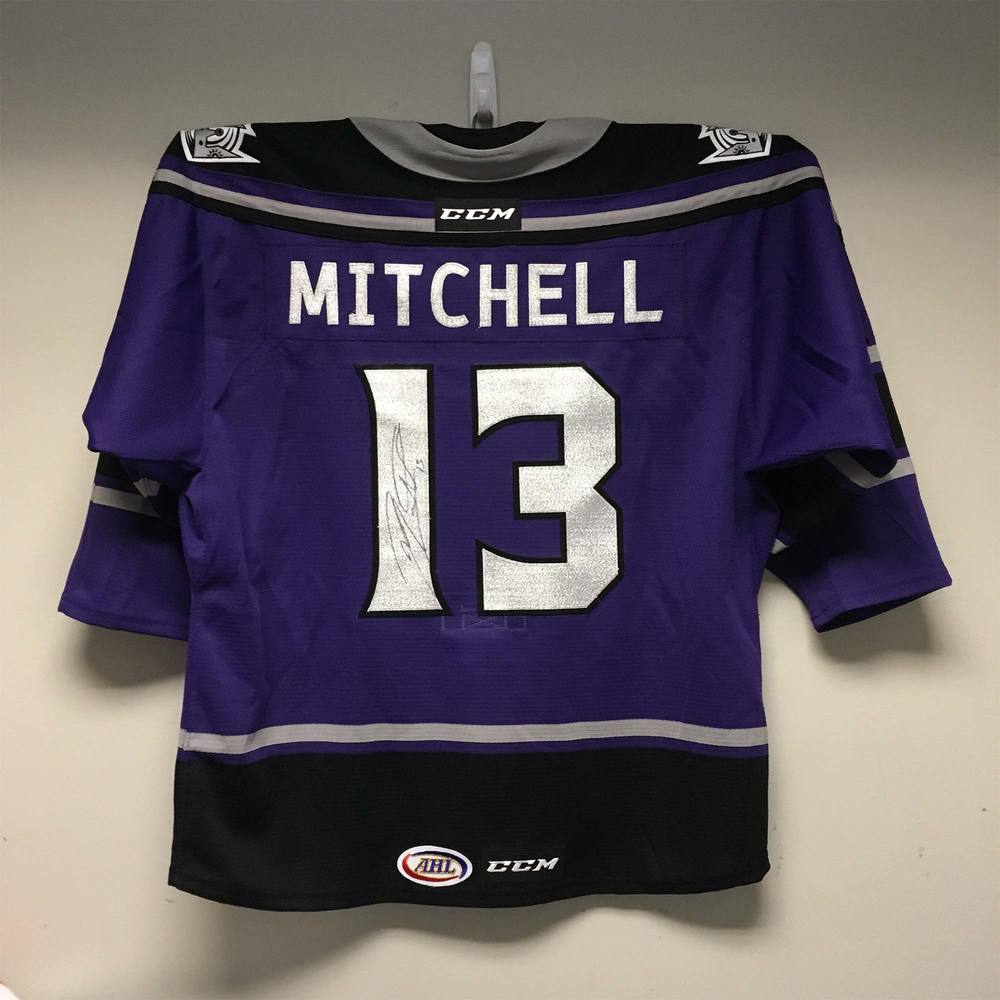 Ontario Reign Kings Night Jersey worn and signed by #13 Zack Mitchell