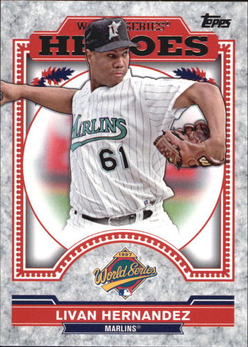 Photo of 2014 Topps Update World Series Heroes #WSHLH Livan Hernandez