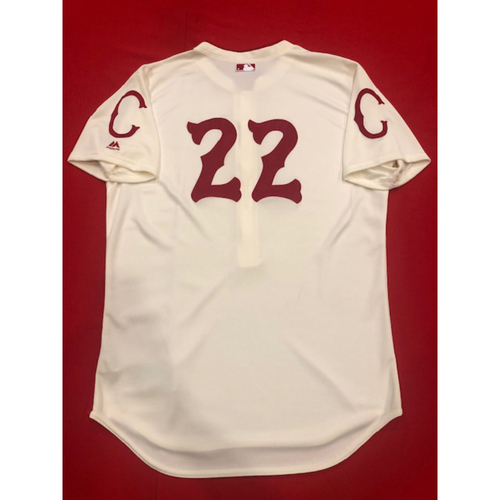 Photo of Derek Dietrich -- Game-Used Jersey -- 1912 Throwback Game (Pinch-Hit: Went 1-for-1, HR, RBI, R) -- Dodgers vs. Reds on May 19, 2019