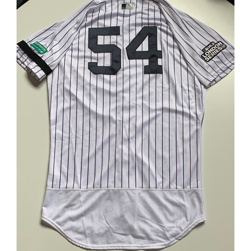 Photo of 2019 London Series - Game-Used Jersey - Aroldis Chapman, New York Yankees vs Boston Red Sox - 6/29/19