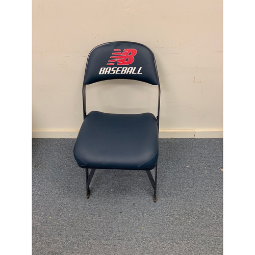 Photo of Yu Darvish Game Used April 8, 2014 Fenway Park Visitor's Clubhouse Chair