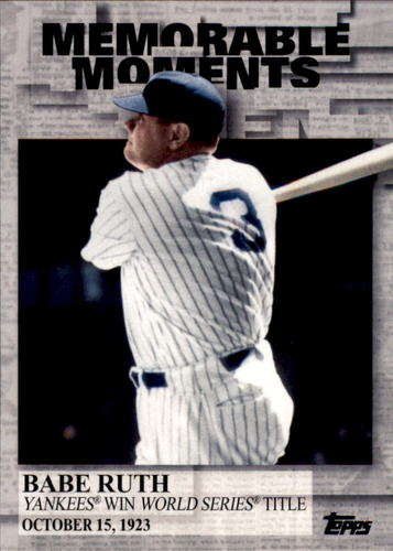 Photo of 2017 Topps Memorable Moments #MM42 Babe Ruth