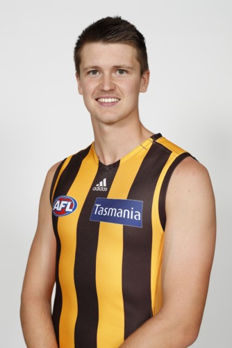 Photo of #2 Mitch Lewis Match-Worn & Signed Home Guernsey