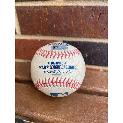 Photo of 2020 MLB Authenticated Game Used Baseball During Historical 29 Runs Scored Game vs Miami Marlins - September, 9th 2020