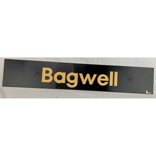 Photo of Jeff Bagwell Team-Issued 2013 Locker Name Plate