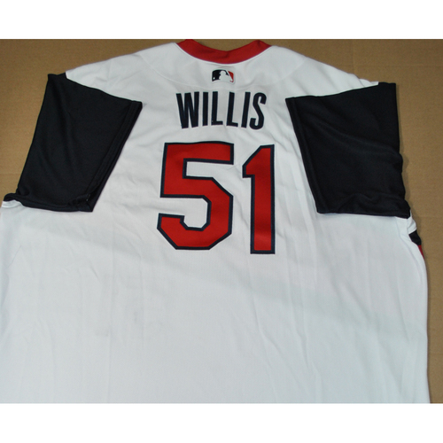 Photo of Game-used Jersey - 2021 Little League Classic - Los Angeles Angels vs. Cleveland Indians - 8/22/2021 - Great Lakes, Carl Willis #51
