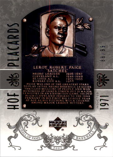 Photo of 2005 Upper Deck Hall of Fame Silver #95 Satchel Paige PC