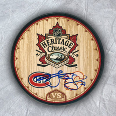 Brian Gionta Montreal Canadiens Autographed Heritage Classic Puck