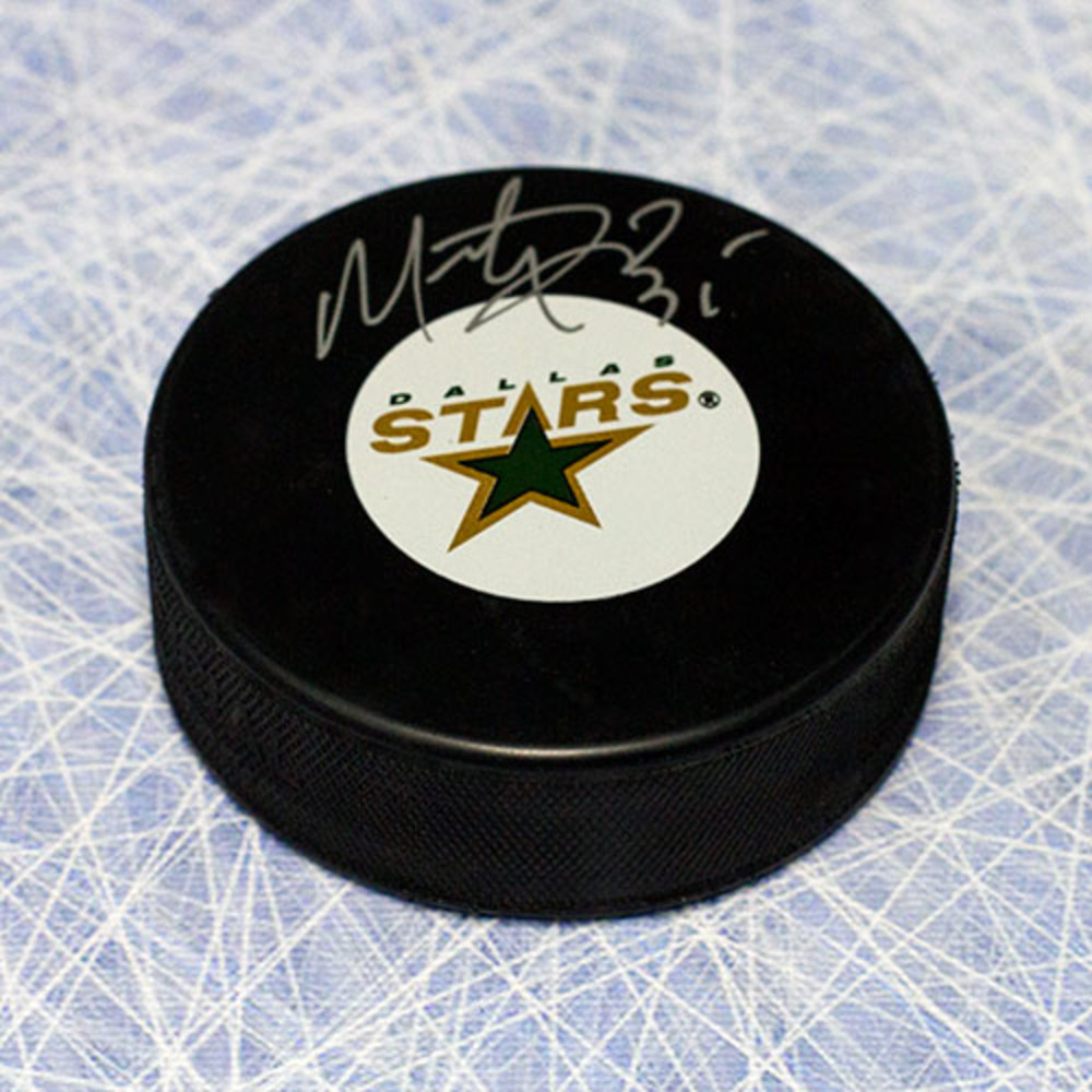 Marty Turco Dallas Stars Autographed Hockey Puck