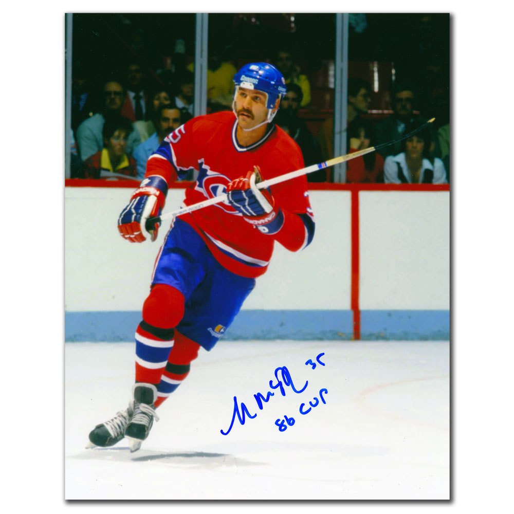 Mike McPhee Montreal Canadiens RUSH Autographed 8x10