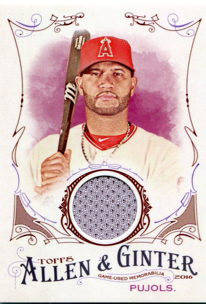 2016 Topps Allen and Ginter Relics jersey Albert Pujols