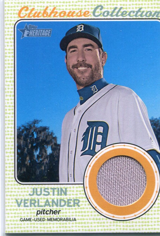 2017 Topps Heritage Clubhouse Collection Relics  Justin Verlander -- 2018 All-Star