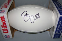 PATRIOTS - SCOTT CHANDLER SIGNED PANEL BALL W/ PATRIOTS CHARITABLE FOUNDATION LOGO