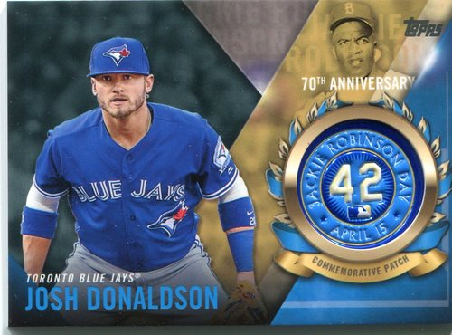 Photo of 2017 Topps Jackie Robinson Logo Patches #JRPCJD Josh Donaldson