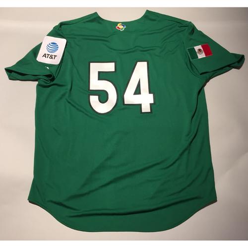 2017 WBC: Mexico Team-Issued Batting Practice Jersey, Sergio Romo #54