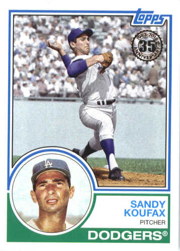 Photo of 2018 Topps '83 Topps #8362 Sandy Koufax