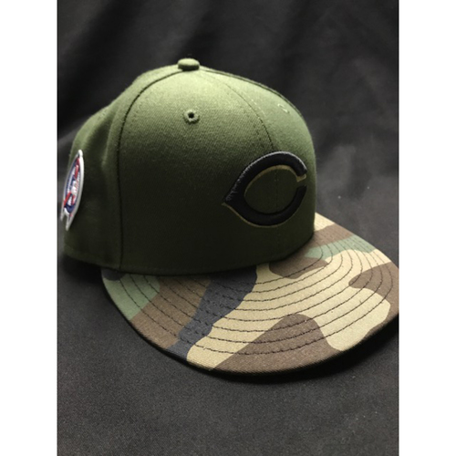 Photo of Anthony DeSclafani - Game-Used - Military Appreciation Hat; (Worn: 2018) - 8/10 Starting Pitcher, 7 IP, 9 SO, 0 ER, W