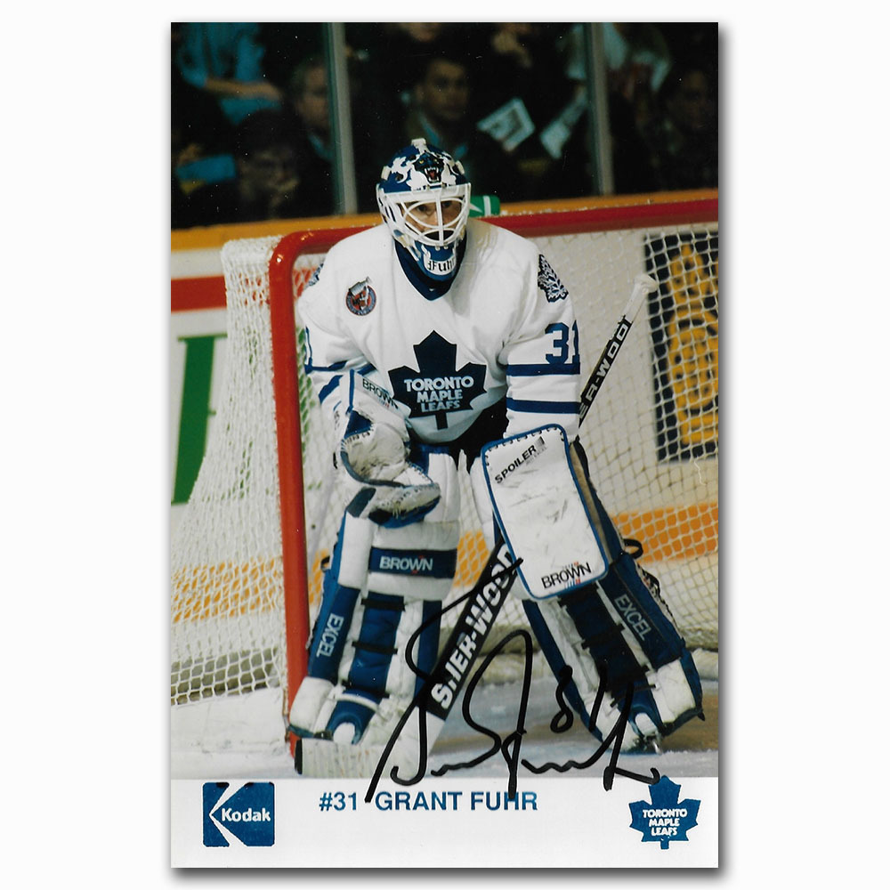 Grant Fuhr Autographed Toronto Maple Leafs 4X6 Photo