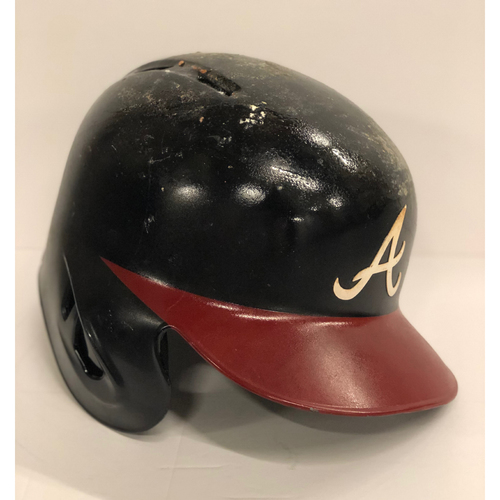Photo of Johan Camargo Game-Used Postseason Batting Helmet - Left Handed - Worn 10/7/18 - Size 7 1/4