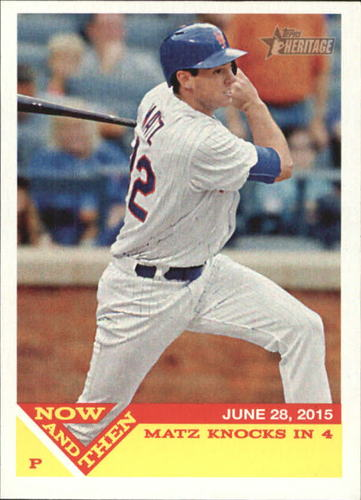 Photo of 2015 Topps Heritage Now and Then #NT2 Steven Matz
