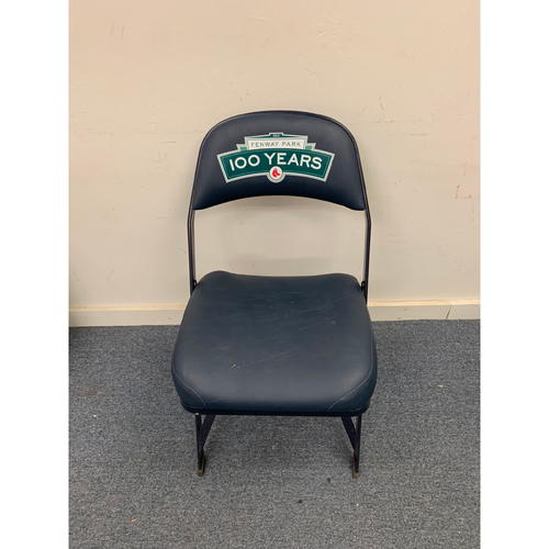 Photo of Ichiro Suzuki Game Used July 21, 2013 Fenway Park Visitor's Clubhouse Chair