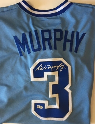 Photo of Dale Murphy Autographed Atlanta Braves Jersey