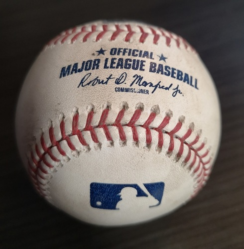 Photo of Authenticated Game Ready Baseball (Sept 1, 19 vs HOU). Justin Verlander recorded his 3rd Career No Hitter in the Game.