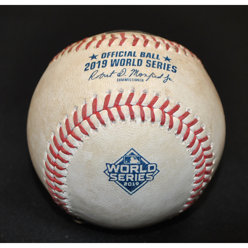 Photo of Game-Used Baseball: 2019 World Series - Game 4: Pitcher: Javy Guerra, Batter: Jose Altuve (Single to CF) - Top 8