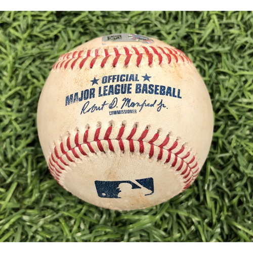 Photo of Game Used Baseball: Mike Zunino single, Daniel Robertson RBI double and Brandon Lowe foul ball off Zack Godley - May 6, 2019 v ARI
