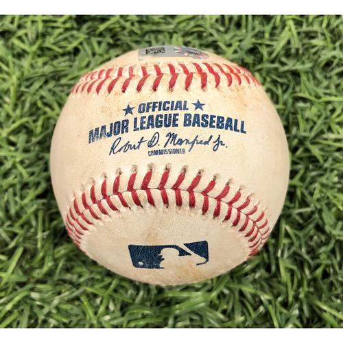 Photo of Game Used Baseball: Mike Zunino single, Daniel Robertson RBI double and Brandon Lowe foul ball off Zack Godley - May 6, 2019 v ARI