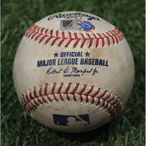 Photo of Game-Used Baseball: Anthony Rizzo 1213th Career Hit (CHC @ KC 8/5/20)
