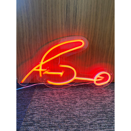 Photo of Adam Duvall Autograph Neon Sign (Not MLB Authenticated, COA Provided)