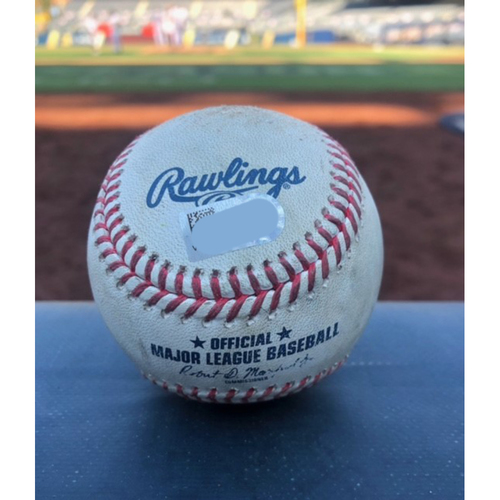 Photo of Game-Used Baseball - 2020 ALCS - Tampa Bay Rays vs. Houston Astros - Game 5 - Pitcher: Blake Taylor, Batter: Randy Arozarena (Strike Out) - Top 3