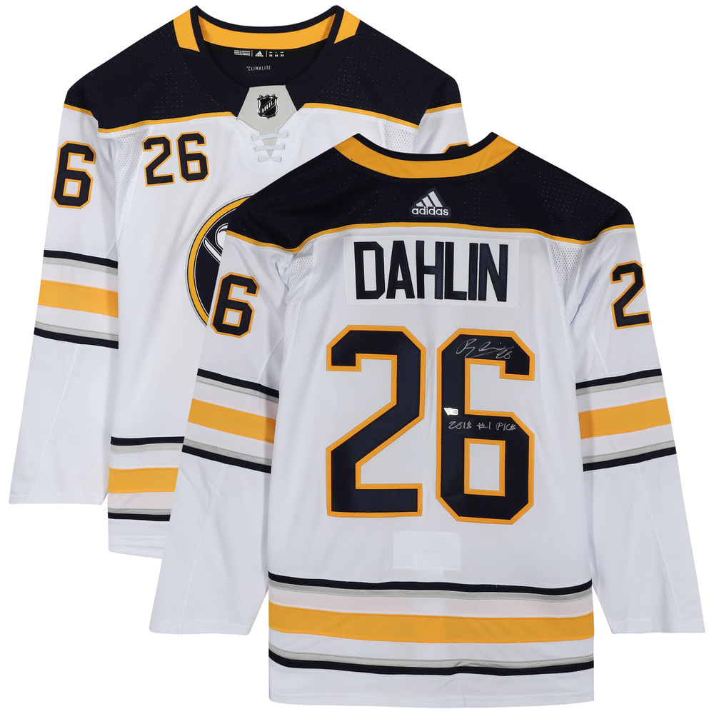 Rasmus Dahlin Buffalo Sabres Autographed White Adidas Authentic Jersey with