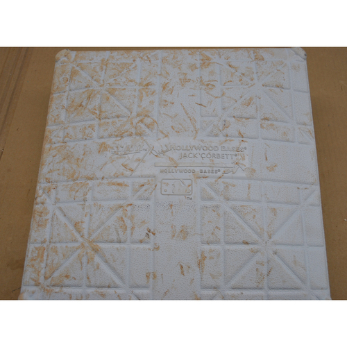 Photo of Game-Used 1st Base - 2020 World Series - Los Angeles Dodgers vs. Tampa Bay Rays - Game 5 - Used Innings 7-9