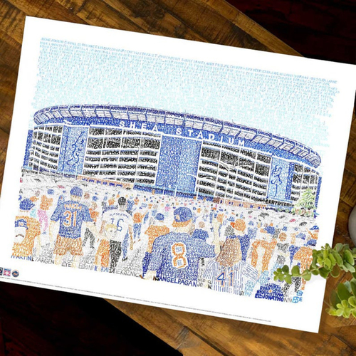 Photo of Shea Stadium Art Print by Dan Duffy, Art of Words - New York Mets