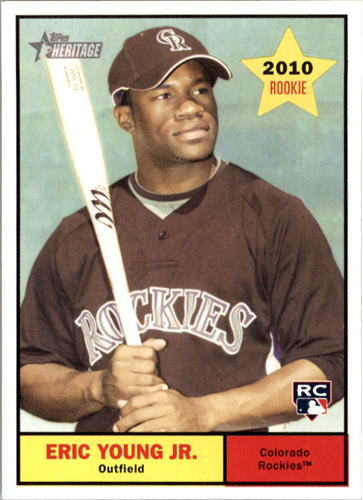 Photo of 2010 Topps Heritage #209 Eric Young Jr (RC)
