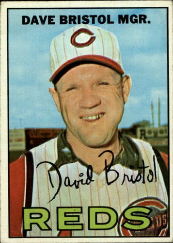Photo of 1967 Topps #21 Dave Bristol MG RC