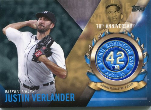 Photo of 2017 Topps Jackie Robinson Logo Patches #JRPCJVE Justin Verlander