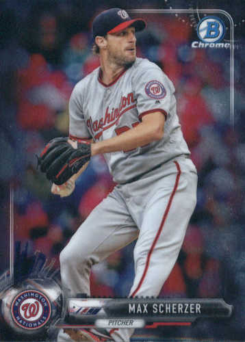 Photo of 2017 Bowman Chrome #76 Max Scherzer -- Nationals post-season