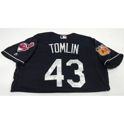 Photo of Josh Tomlin 2017 Spring Training Jersey